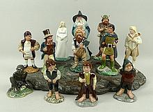 A set of Royal Doulton Lord of the Rings Middle