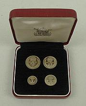 A set of Maundy Money, circa 1971, boxed,