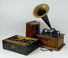 An Edison Model C phonograph, circa 1901, serial S
