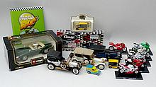 A quantity of boxed model cars including a Burago
