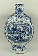 A Chinese porcelain moon flask with dragon