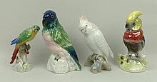A Royal Dux German porcelain model of a cockatoo,