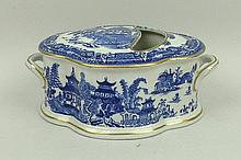 A Royal Worcester porcelain spoon warmer, circa