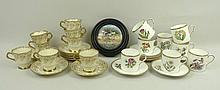 A Royal Worcester porcelain set of eight coffee
