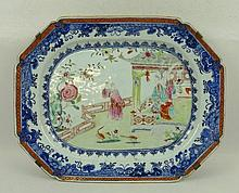 A Chinese export porcelain meat platter, late 18th