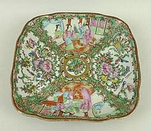 A Canton porcelain dish, late 19th century, of