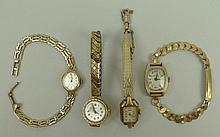 A group of four lady's wristwatches, comprising;