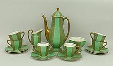 A Royal Doulton pottery coffee service of