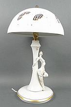 Kati Zorn (German, b 1962): a porcelain table lamp