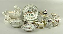 A quantity of ceramics, comprising a Staffordshire