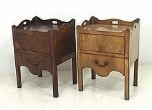 A pair of 19th century mahogany commodes, with