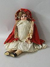 An Armand Marseille bisque headed doll, number