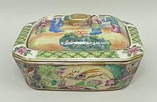 A Chinese Canton porcelain soap dish,19th century,