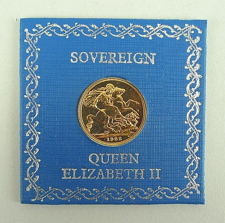 A Queen Elizabeth II sovereign, 1981.