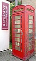 A cast iron model K6 British telephone box,