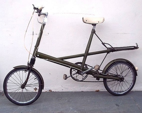 A unisex Moulton bicycle, vintage retro Moulton