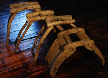 21ST CENTURY A.D. DECORATIVE RUSTIC PROPS SADDLES / SAWHORSES