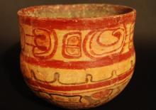 500 - 800 A.D. MAYA POLYCHROMED SWIMMER BOWL