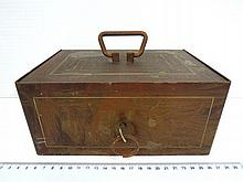 Old cash box with key