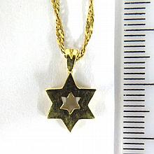 Chain with 14K gold star of David pendant