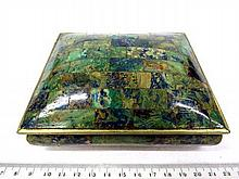 Metal box with jade coating, Mexico