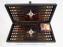 Backgammon, Turkey, wood inlayed with mother of