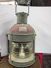 Large navigation lamp of a ship, made in Japan,
