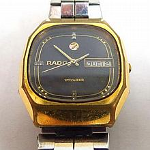 Wristwatch by Rado, Voyager model, with day and