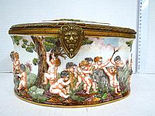 Ceramic box by Capodimonte