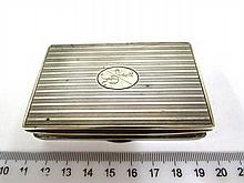 Silver 835 tobacco box