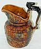 English Arthur Woods & Co. Brownware Pitcher