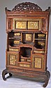 Japanese applique lacquered cabinet