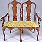 Love seat with Inlaid Design