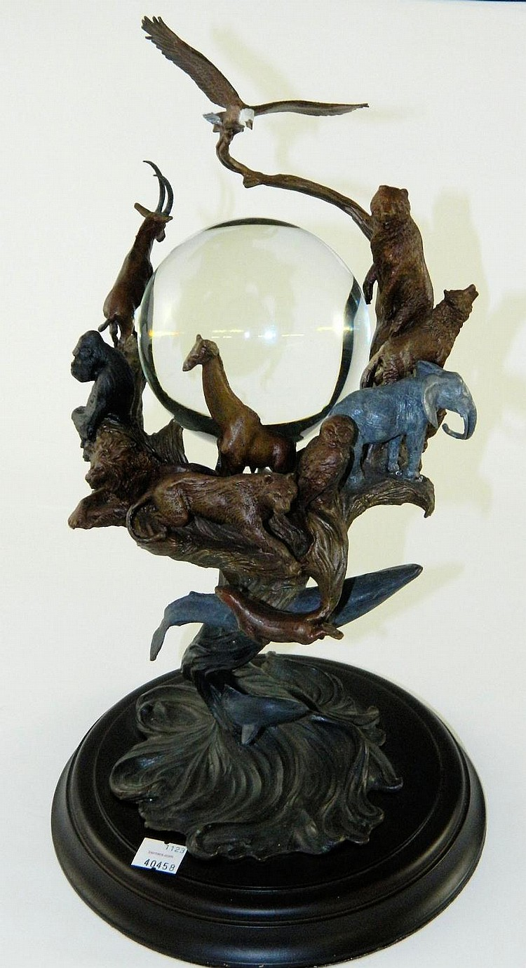 Guardians of the World Crystal Ball, bronze