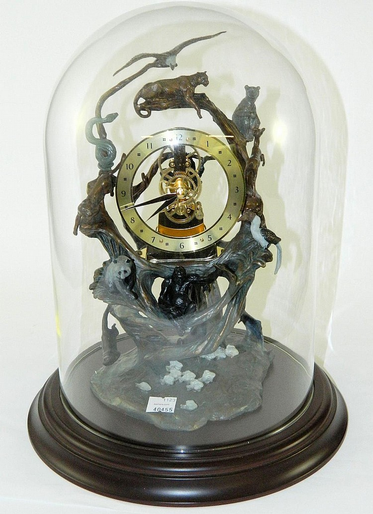 Guardians of the World Clock, cold paint bronze.