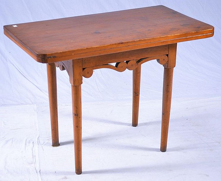 Table with carved base