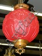 Red glass hanging fixture