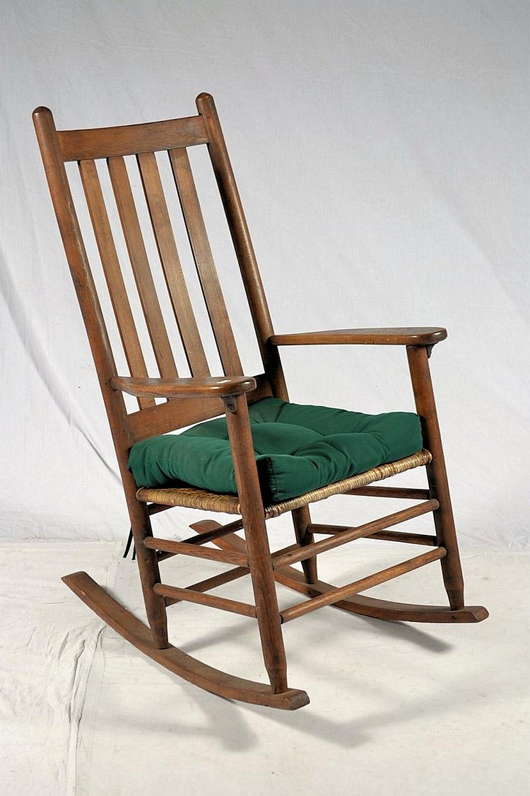 Rush Bottom Rocker with Slatted Back