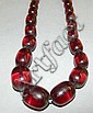 Cherry amber beaded necklace