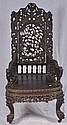 Oriental carved Rosewood arm chair