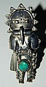 Sterling silver Kachina ring with turquoise stone
