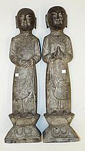 Pair of Oriental Stone Figures