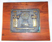 Coca Cola 75 Years of Bottling Plaque