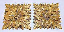 Pair of Gilt Bronze Plaques
