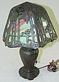 Bronze Handel slag glass table lamp