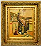 W. Burdett oil on canvas in ornate gilt frame