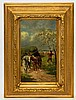 Artist signed oil on board in gilt frame