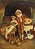 L. S. Seaman oil on canvas pub scene