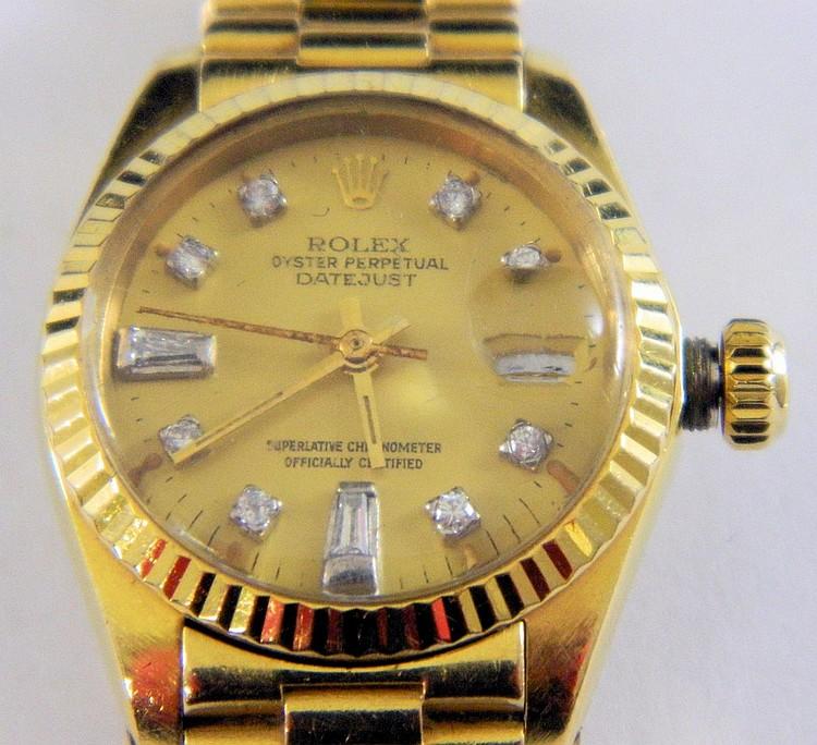 Rolex Oyster Perpetual Wrist Watch, 18k Gold