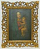 Oil on Canvas of Madonna and Child in Ornate Frame